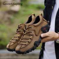 Doré Jeune homme Bottes Tactiques En Cuir Véritable Hommes Chaussures De Plein Air Sneaker Respirant Chaussures de Randonnée Montagne Homme Bottes De Chasse