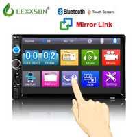 Coche auto radio Audio Bluetooth 7 pulgadas 2 din pantalla táctil estéreo coche MP3 MP5 jugador USB/FM/AUX/SD/Espejo nuevo enlace No CD/DVD y GPS