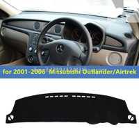 Dashmats coche-estilo de accesorios del tablero para Mitsubishi Montero Outlander Airtrek 2001, 2002, 2003, 2004, 2005, 2006 RHD