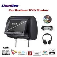 7 pulgadas cabeza de reposacabezas del coche soporte almohada TFT Monitor LED pantalla/reposacabezas DVD reproductor de juegos asiento trasero sistema Multimedia