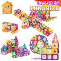 415 piezas Mini bloques magnéticos modelos de construcción de juguetes de construcción magnética ladrillos magnéticos juguetes educativos niños regalo