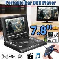 7.8 pouces Portable HD TV maison voiture lecteur DVD VCD CD MP3 lecteur DVD USB cartes SD RCA TV Portable câble jeu 16:9 rotation écran LCD