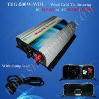 24 V DC a 110 V/230 V AC 500 W viento inversor convertidor de la turbina de viento 500 W
