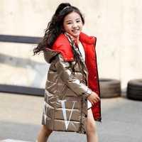 2019 enfants hiver chaud blanc canard vers le bas vestes filles vêtements imperméables vêtements à capuche longue-30 degrés manteaux pour enfants parka