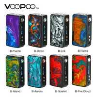Original 177W VOOPOO arrastrar 2 Caja Mod con colorido resina apariencia E-cig Mod Vape No 18650 batería del arrastre/Mini/Shogun Univ