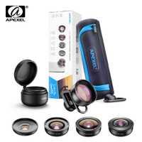 APEXEL HD 5 en 1 objectif de téléphone caméra 4 K objectif macro large portrait objectif super Fisheye filtre CPL pour iPhone7 8 Samsung allsmartphone