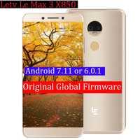 Original Letv LeEco RAM 6G ROM de 64G le Max3 X850 FDD 4G teléfono celular 5,7