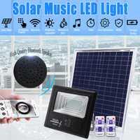 50/100/192/300 LED de energía Solar 50 W/100 W/200 W/300 W Luz de inundación Altavoz bluetooth al aire libre de la lámpara IP67 impermeable de ahorro de energía