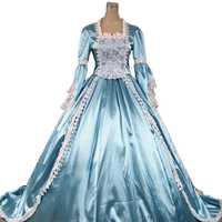 Venta superior feria del renacimiento Cenicienta princesa de cuento de hadas vestido de bola, vestido de tren teatro ropa