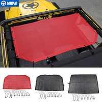 MOPAI coche superior sombrilla cubierta para Jeep Wrangler 1997-2006 techo Anti UV sol sombrilla proteger neto para Jeep wrangler TJ Accesorios