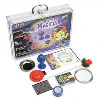 De aleación de aluminio de la instrucción con CD caja mágica de los niños Prop novedad Gags bromas para niños los niños Juguetes