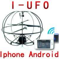 Envío libre 777-174 iPhone teléfono 3ch UFO Fly Bola de vuelo remote control RC helicóptero Gyro juguete los niños fswb
