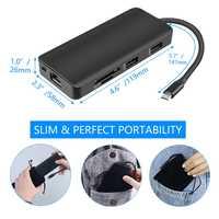 9 En 1 Tipo C eje adaptador USB C a HDMI 2 USB3.0 Micro SD/TF lector de tarjeta con la policía de QJY99