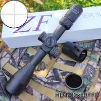 HD 4-20x50FFP táctico óptica Rifle Primer plano Focal de la retícula Dual iluminado noche caza Riflescope para pistola