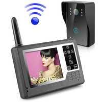 Sistema de intercomunicador de teléfono con puerta de timbre de vídeo inalámbrico con pantalla TFT de 3,5