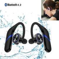 Auriculares Bluetooth gemelos impermeable inalámbrico Bluetooth 4,2 auriculares estéreo con micrófono auriculares deportivos para IOS y Andriod