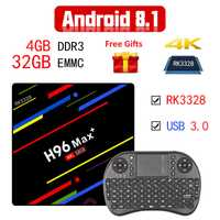 2018 nuevo Android 8,1 TV Box Rockchip RK3328 4G 32G 1080 p H.265 4 K 3D Google Player tienda Youtube WiFi HDR10 caja de TV Android inteligente