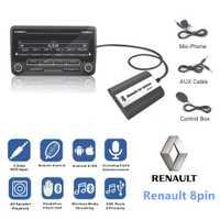 DOXINGYE... AUX USB coche Bluetooth de música Digital cambiador de Cd adaptador de coche MP3 jugador para Renault 8pin Clio maestro Modus Dayton