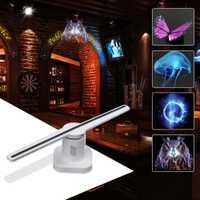 42 cm proyector holograma 3D ventilador de pantalla holográfica tienda de vacaciones única herramienta de decoración de publicidad de luz