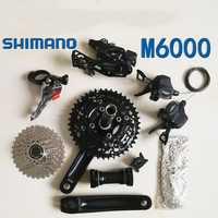 SHIMANO Deore M6000 3x10 velocidad bicicleta MTB bicicleta Grupo 3 piezas/7 piezas pequeño/medio 42 T