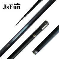 JSFUN mano pesca 8 M 9 m 10 m 11 M 12 m alimentador varilla telescópica de carbono peces polo ultraligero + 1 Punta de repuesto FG65