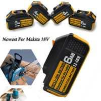 2019 el más nuevo 18 V 4Ah 5Ah 6Ah Li-Ion batería para Makita batería BL1860 BL1850 BL1830 BL1840 194205-3 herramienta con indicador LED