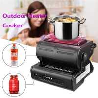Estufa de calor al aire libre de aleación de aluminio portátil al aire libre tienda de campaña estufa de Gas portátil accesorios de tienda de alta calidad