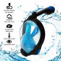 Buceo máscara de agua máscara desmontable seco verano Entrenamiento de natación buceo Anti-niebla agua Snokel máscara