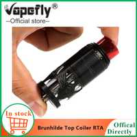 En stock cigarrillo electrónico Vape Vapefly Brunhilde Top Coiler RTA tanque 8 ml/2 ml W alrededor del flujo de aire superior doble bobina vs galaxias MTL RDTA