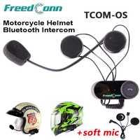 Casco de la motocicleta 100 m Intercom auriculares auricular del deporte cascos interfono Bluetooth moto intercomunicador auricular Freedconn TCOM-OS