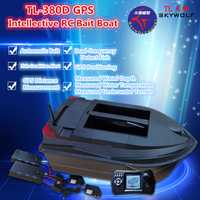 Control remoto profesional barco de pesca TL-380D Dual Bait Well carga de 3KG GPS posicionamiento Sonar buscador de peces Auto RC Baiting barco
