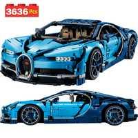 Envío seguro LegoINGLYS Technic el Bugatti Chiron coche de carreras juegos de bloques de construcción de ladrillo juguetes para niños regalo de cumpleaños