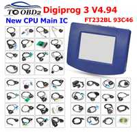 Venta caliente DHL libre Digiprog 3 v4.94 OBD ST01 ST04 DIGIPROG III odómetro ajustar programador Digiprog3 kilometraje herramienta correcta