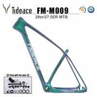 Tideace UD camaleón 29er marco carbono chino MTB carbono marco 27,5 carbono bicicleta de montaña 650B disco de marco de fibra de carbono 29