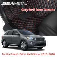 LHD pour Kia Sorento Prime UM 5 places 2018 2017 2016 tapis de sol de voiture tapis Auto personnalisés tapis intérieur tapis de pied accessoires style de voiture