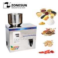 ZONESUN 1-100g de polvo tuerca Hardware té dulces de azúcar máquina de llenado de polvo