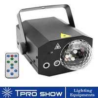 Bola de discoteca remoto Proyector láser RGB LED bola mágica de Mini láser luces de fiesta para DJ fiesta de DJ iluminación los efectos
