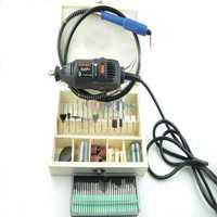 Dremel multifunción molino eléctrico taladro 130 unids accesorios de manguera de pluma de grabado de lijado de pulido de la máquina de grabado