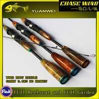 Yuanwei 1,98 M 2,1 m varilla giratoria UL/L 2 Sección De carbono De Vara De Pescar Carpe caña De Pescar canne un Peche soporte señuelo Rod A057