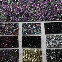 90x134 cm Pieles sintéticas Faux cuero Telas Glitter cuero Big Glitter multi-colores brillo cuero para Costura arco DIY p102