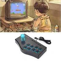 2 Unid 3In 1 USB con cable controlador de juegos de Arcade Joystick Fighting Stick para PS3 ordenador PC Gamepad diseño de ingeniería juego consola
