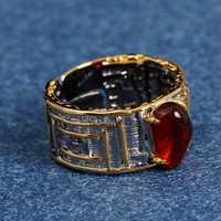 Joyería de plata tailandesa Retro personalizada creativa hecha a mano S925 plata de ley incrustación gema Natural Omega fuego ópalo mujeres anillo abierto