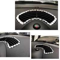 Etiqueta engomada del coche del ABS consola central salida de aire Trim molduras para Mini Cooper R56 Interior del coche Styling Accesorios