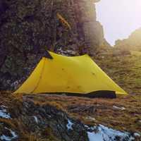 3f UL Gear rodless tienda 15d silicona ultraligero solo pueblo dos personas camping Tiendas de campaña 3 Temporada 2 colores