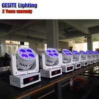 2 piezas nuevo brillo estupendo led beam lavado 4X10 W mini cabeza móvil haz etapa del disco efecto de luz