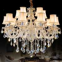 Lámpara de lujo luz interior iluminación dormitorio cocina comedor candelabro lustre de cristal para sala de jantar