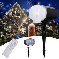 Copo de nieve Led proyector láser luces nevadas decoración de Navidad lámpara de proyección IP65 impermeable para el año nuevo jardín al aire libre