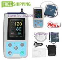 ABPM50 24 horas ambulatoria de la presión arterial Monitor Holter mapa Holter BP Monitor con software contec