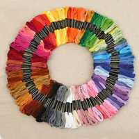 430 colores de poliéster bordado Cruz hilo patrón Kit bordado seda de coser de seda 447 unids/set TB venta