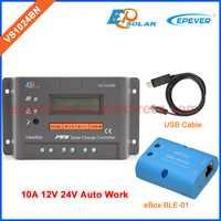 Cable USB conectar Controller para PC PWM software VS1024BN carga PWM regulador solar 10A eBOX-BLE-01 función Bluetooth APP